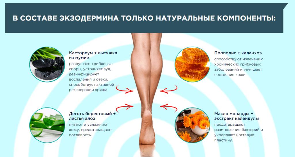 Экзодермин – полное избавление от грибка стопы и ногтей